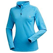 Nordcap Damenfunktionsshirt, Thermo-Sweatshirt mit Stretch in Hellblau, für Sport & Outdoor-Aktivitäten, Damen Langarm-Shirt (Größe: 39 - 46)