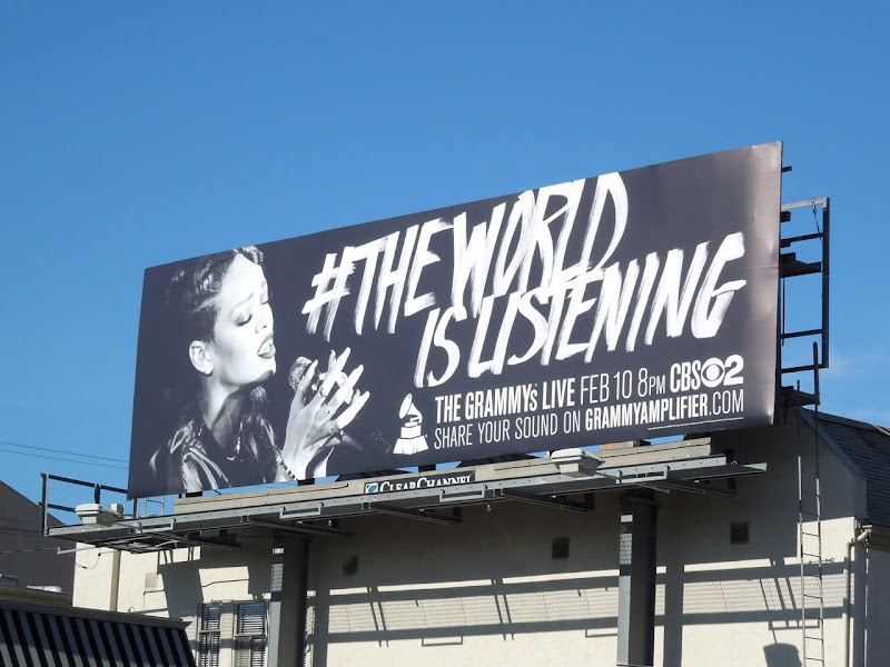 Rihanna The World is Listening 55th Grammys billboard