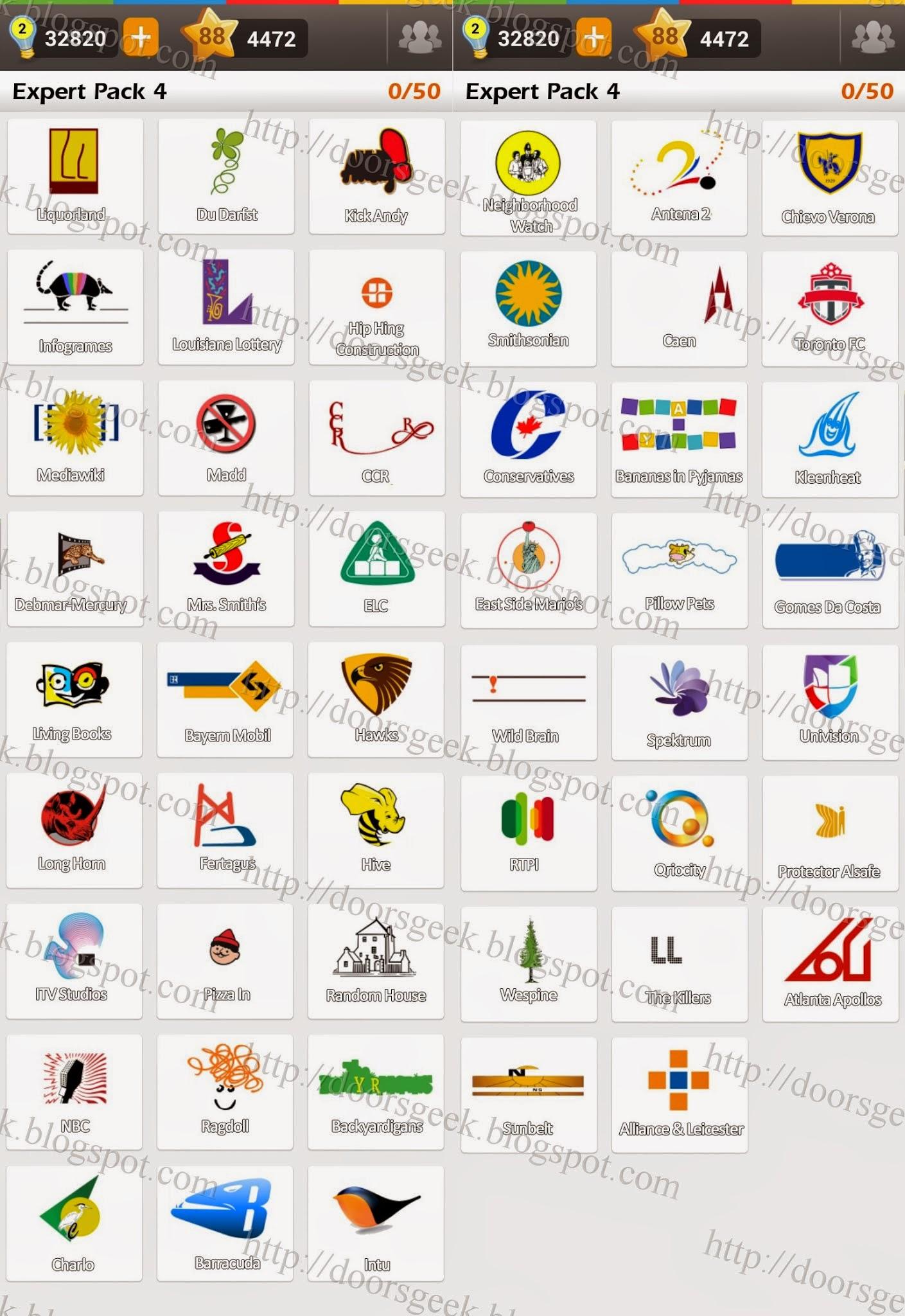 Logo Game: Guess the Brand [Expert] Pack 4 ~ Doors Geek