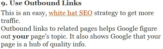 use outbound links