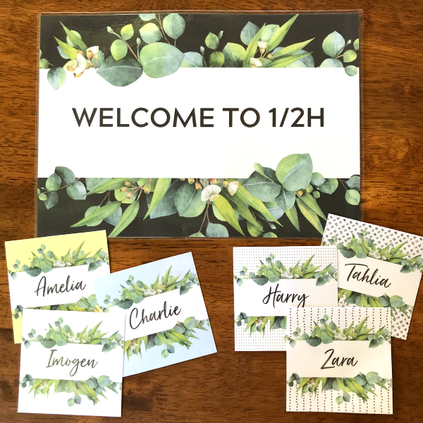 Editable Eucalyptus Labels and Signs for Class | you clever monkey