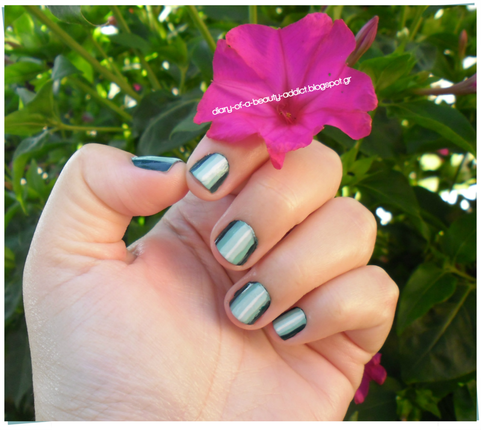 Full Green Nails