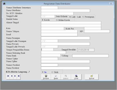 formulir pendaftaran distributor nasa
