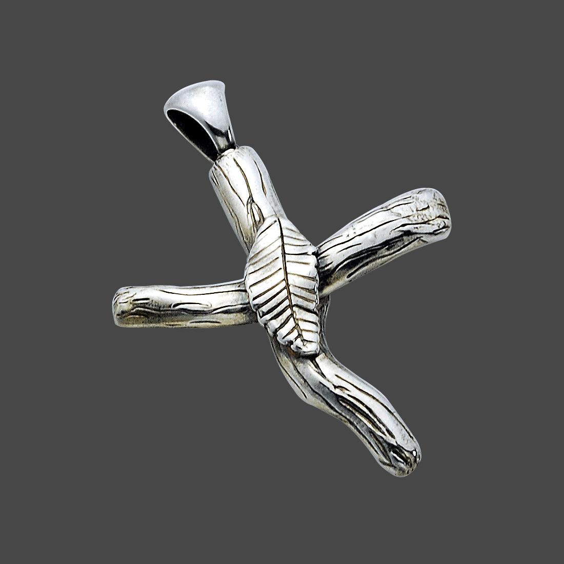 handmade sterling silver cross necklace