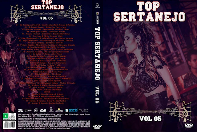 Capa DVD Top Sertanejo Vol 05