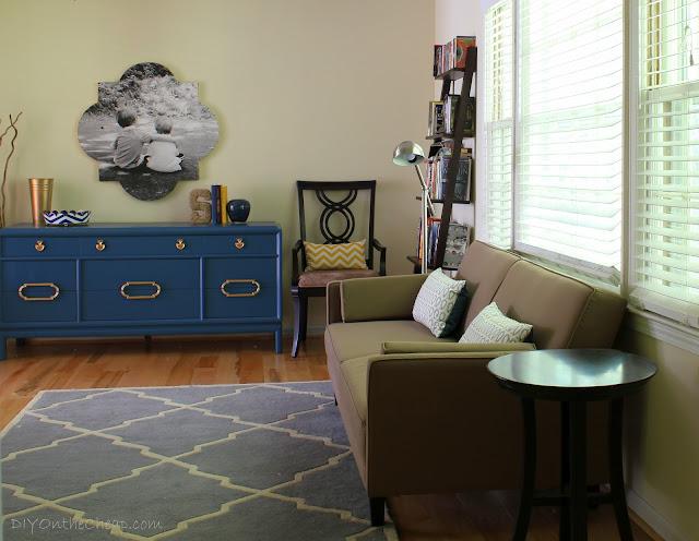 Modern living room office