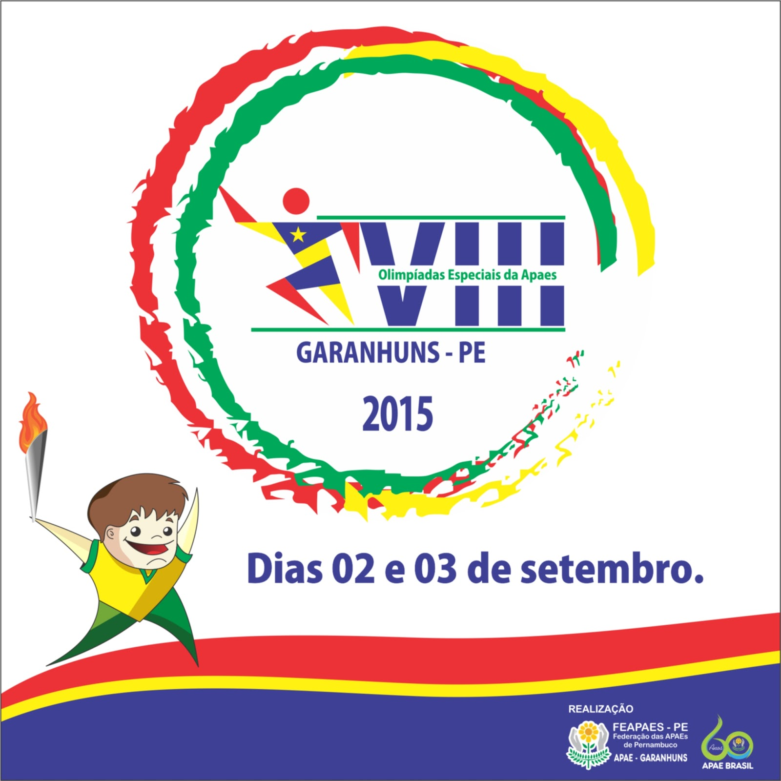 7746ebaf35 A Federação das Apaes de Pernambuco promove nos dias 02 e 03 de Setembro a  VIII Edição das Olímpiadas Especiais das Apaes
