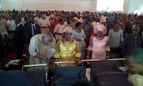2b - Bayelsa Governor, Seriake Dickson and wife, Rachael dedicate their quadruplets in Church (photos)