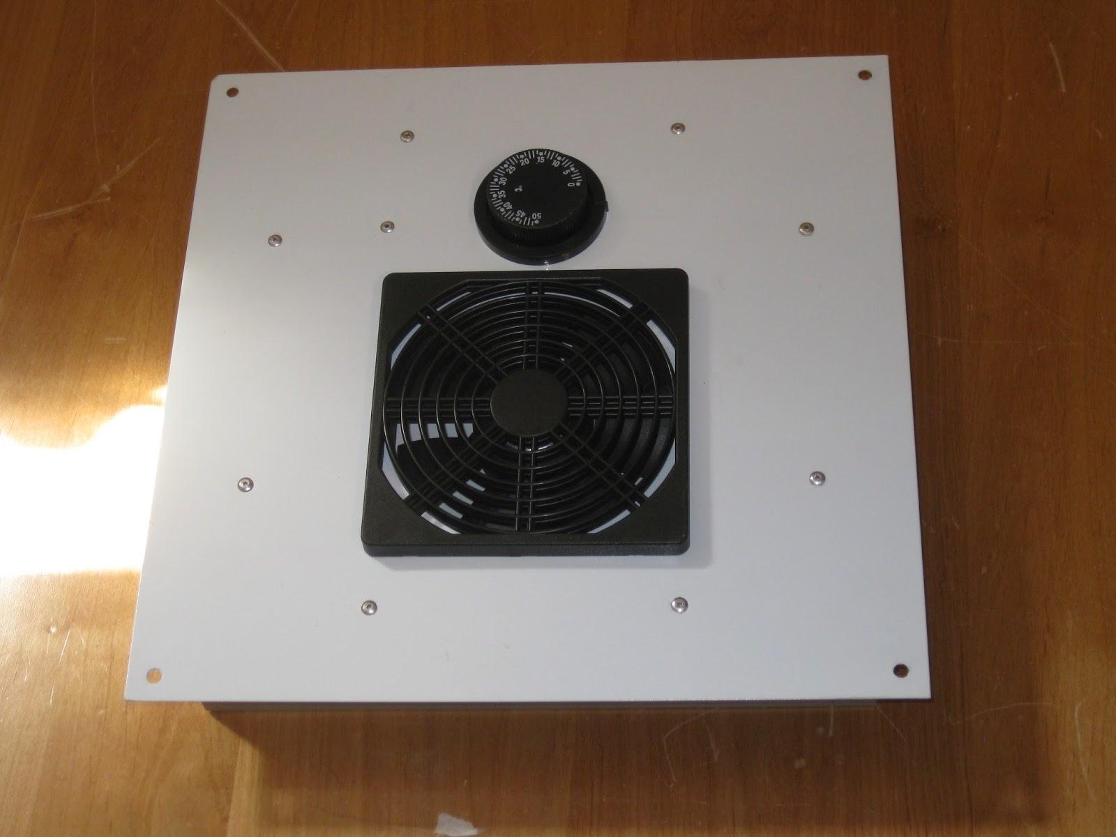 Solar Thermostatic Ventilator Fan Vent Greenhouses Attic