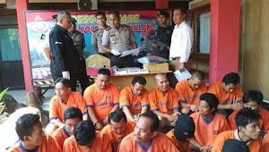 Polres Bangkalan Tangkap 30 Orang Tersangka cuma Dalam 2 Minggu