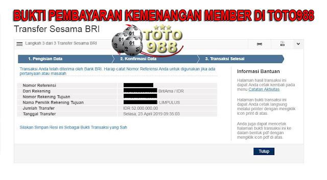 Member Menang Judi Baccarat di Live Casino TOTO988