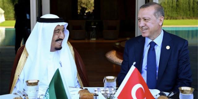 raja salman dan presiden erdogan