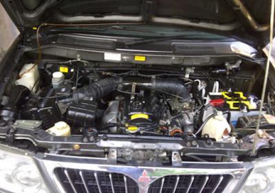 Foto Mesin Mitsubishi Kuda Bensin 2.0 liter