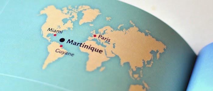 Plaquette colorée touristique Martinique