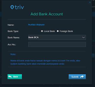 Cara mencairkan uang hasil Mining Bitcoin ke Bank6 - Triv
