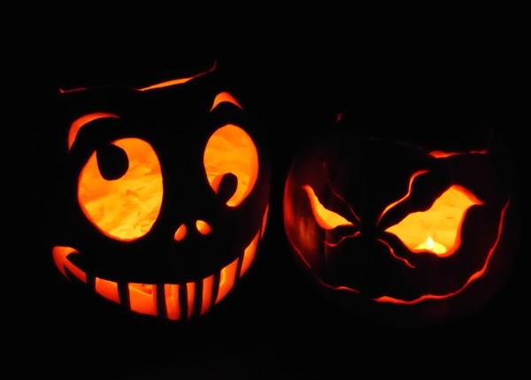 Carved Halloween Jack OLanterns