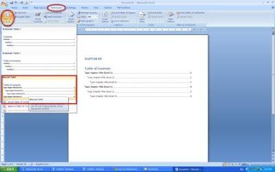 Cara Membuat Daftar Isi Rapih di Microsoft Word 2007 ...