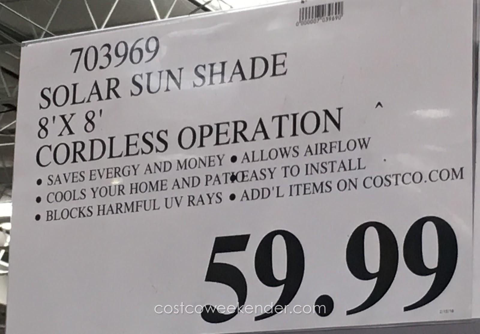 Exterior sun shades costco patio sun shades costco cordless exterior sun shades patio sun for Coolaroo exterior roller shade costco