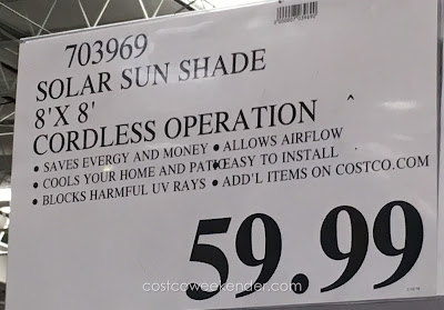 Deal for the Solar Exterior Sun Shade at Costco