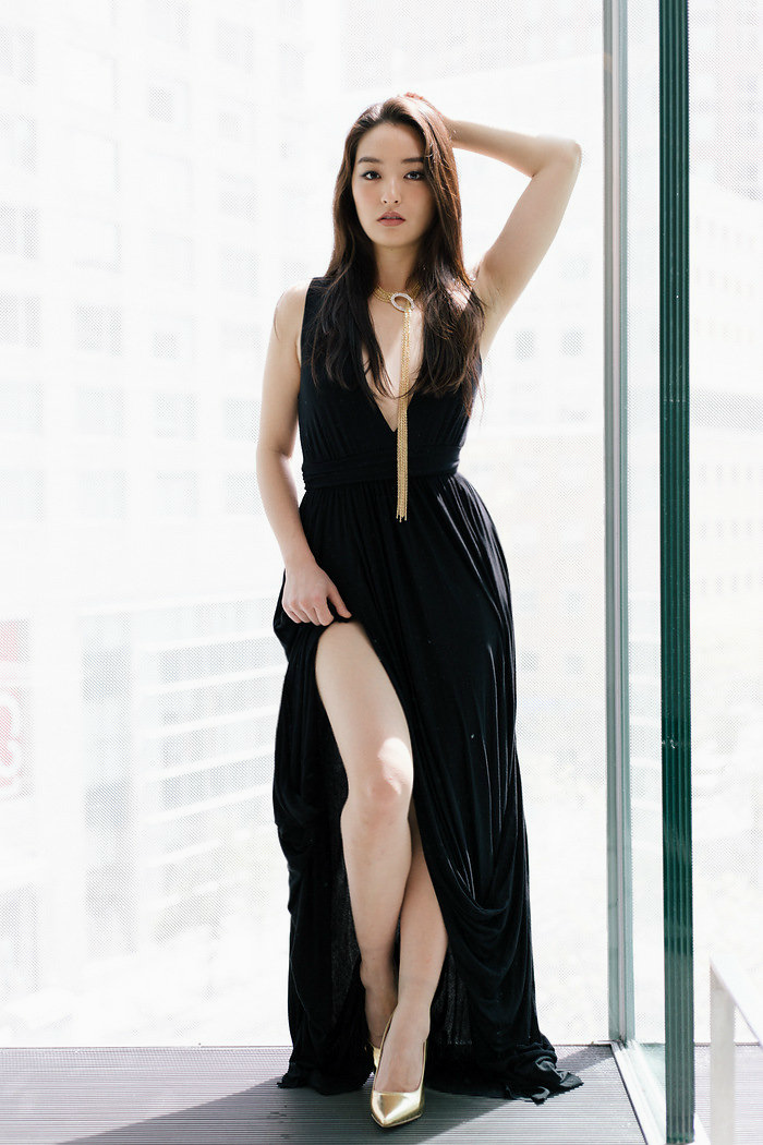 Plunging Neckline gown