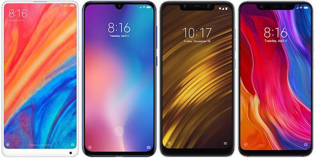 Xiaomi Mi Mix 2s vs Xiaomi Mi 9 SE vs Xiaomi Pocophone F1 vs Xiaomi Mi 8