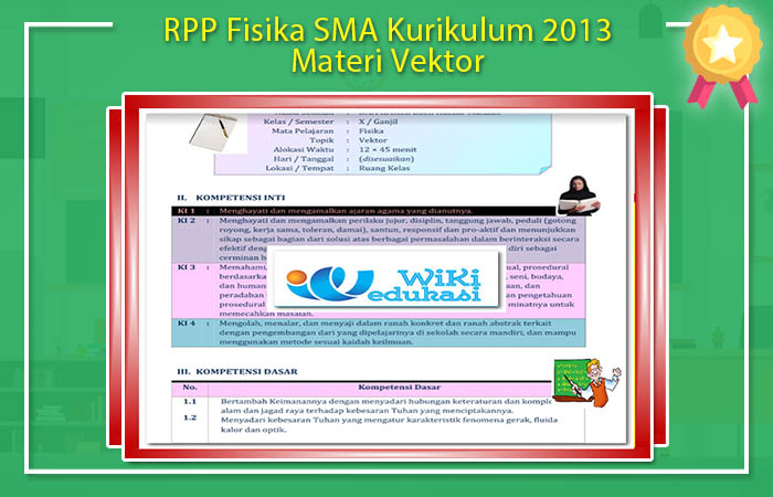 RPP Fisika SMA Kurikulum 2013 Materi Vektor