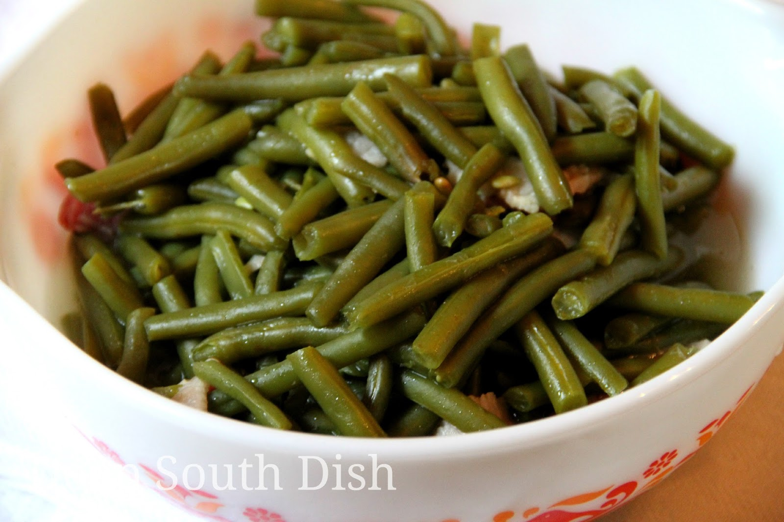 Deep South DishOld Fashioned Slow Stewed Southern Green Beans