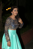Nikki Galrani in Green Skirt  Top at Marakathamani music launch ~  Exclusive (42).JPG