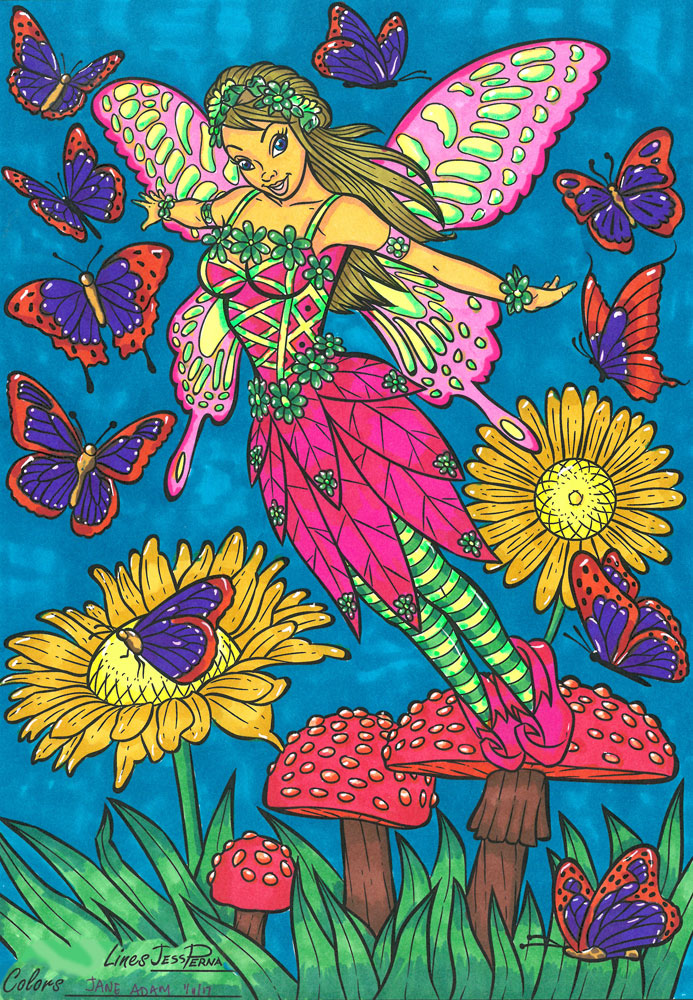 Jess Perna Books - Adult Coloring Posters