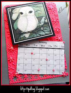 January calendar memory box dies martha stewart punch cuttlebug