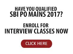 INTERVIEW BATCH FOR SBI PO | 2017