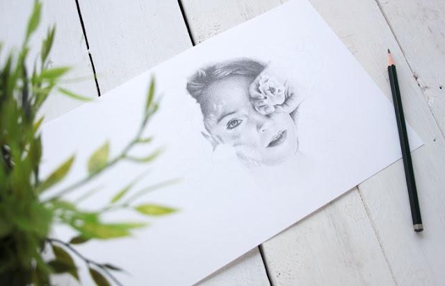 Retrato realista a lápiz