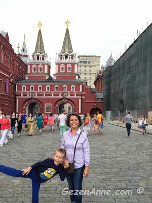 oğlumla Kızıl meydanda, Moskova