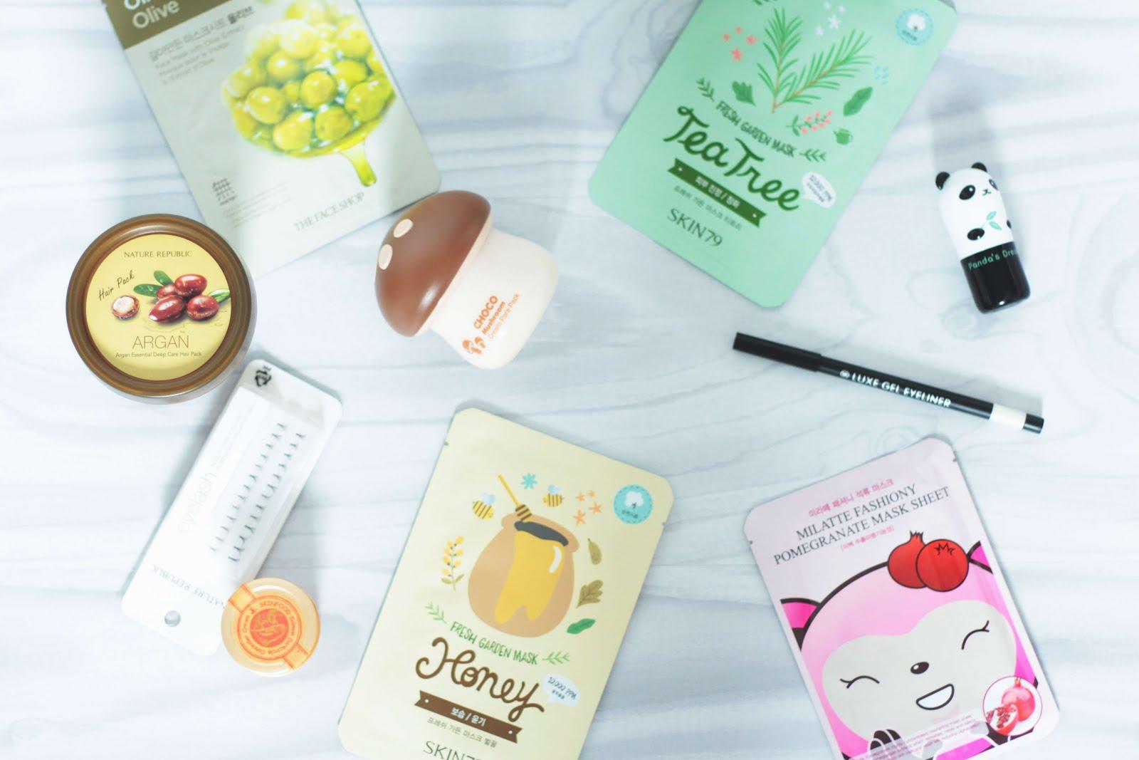 collective korean beauty haul skinfood tonymoly nature republic the face shop