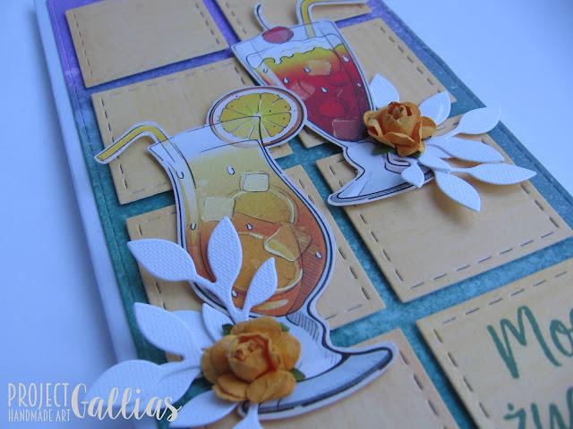 VIDEO TUTORIAL – Kartka patchworkowa z drinkami