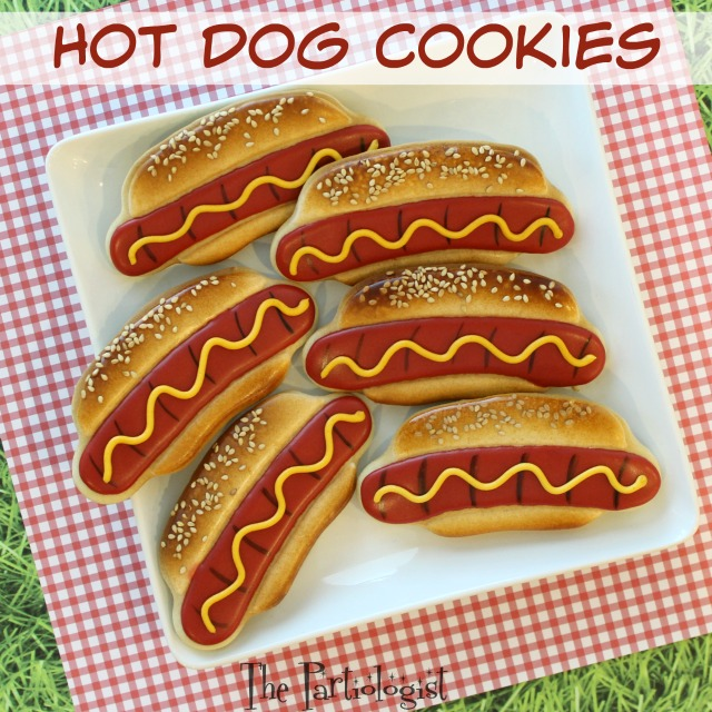 The Partiologist Hot Dog Cookies