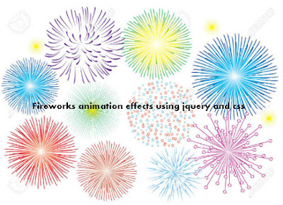 Create Fireworks animation effects using jquery and css