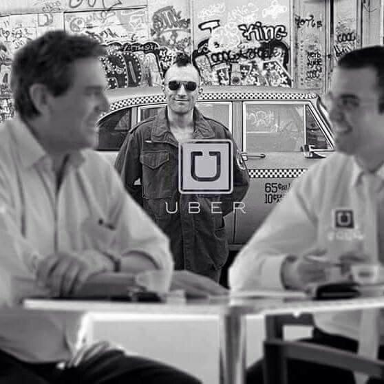 Funny robert De Niro Uber Taxi Advert Joke Picture
