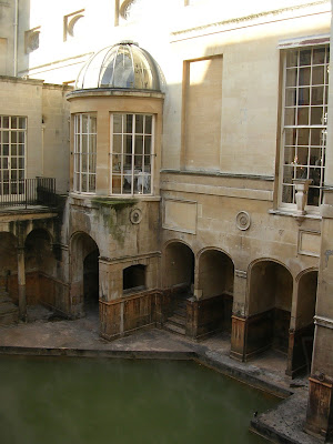 High Tea, Pump Room, Bath, England, Roman bath