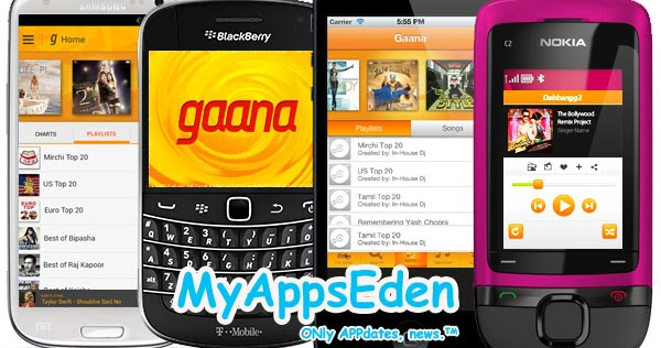 Gaana app released for Android, BlackBerry, iPhone and Bada