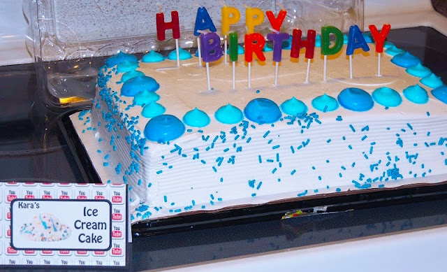 Ice Cream Cake Food Card- Free Birthday Party Printables