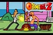 لعبة مغامرات رئيس الولايات المتحدة مع ابطال دراغون بول obama dragon ball saw