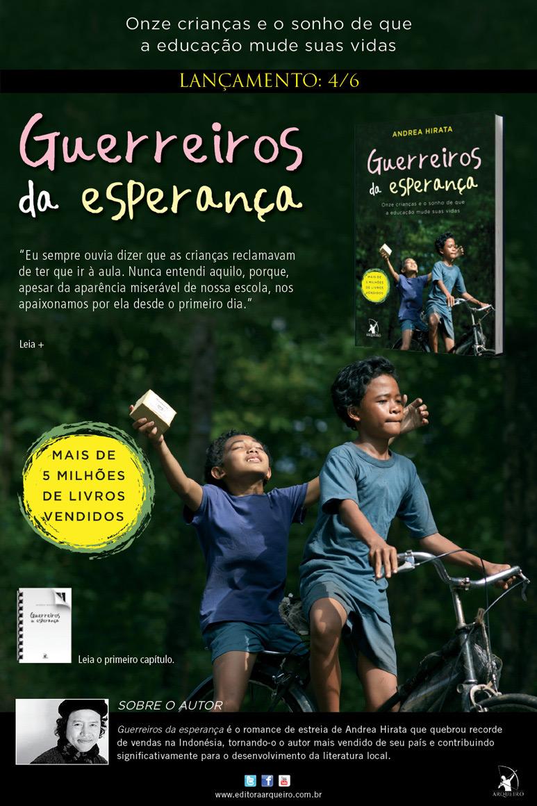 "News: Guerreiros da esperanca"", da autora Andrea Hirata. 6"