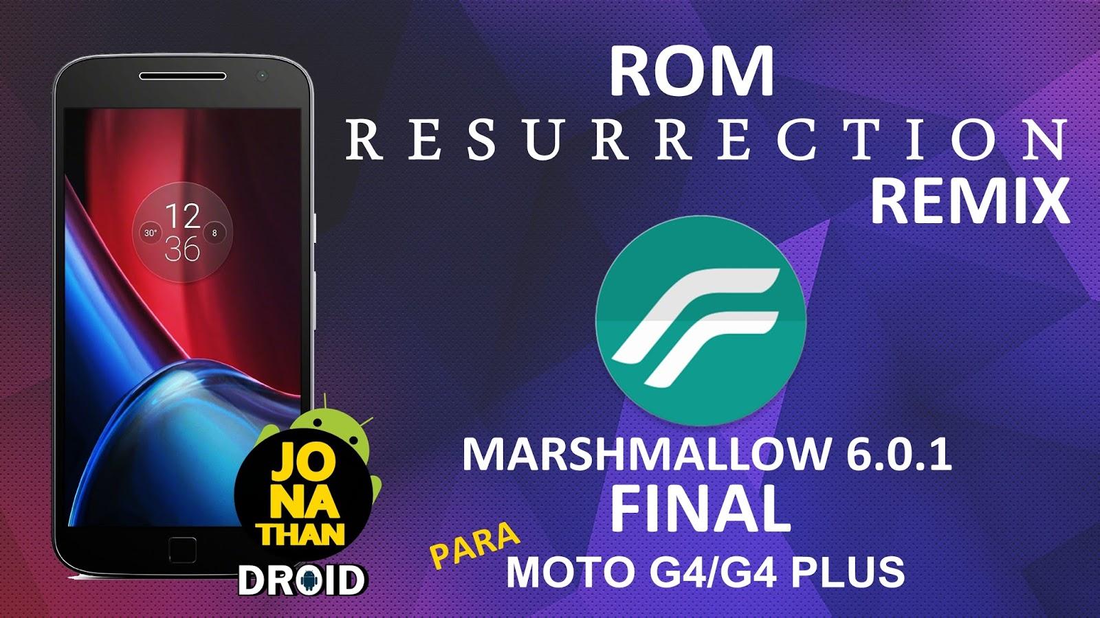 ROM - Resurrection Remix M FINAL - Marshmallow 6 0 1 - Athene