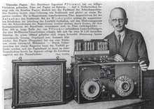 Fritz Pfleumer's first tape recorder