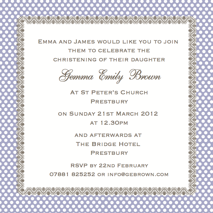 cococards  christening invitation wording