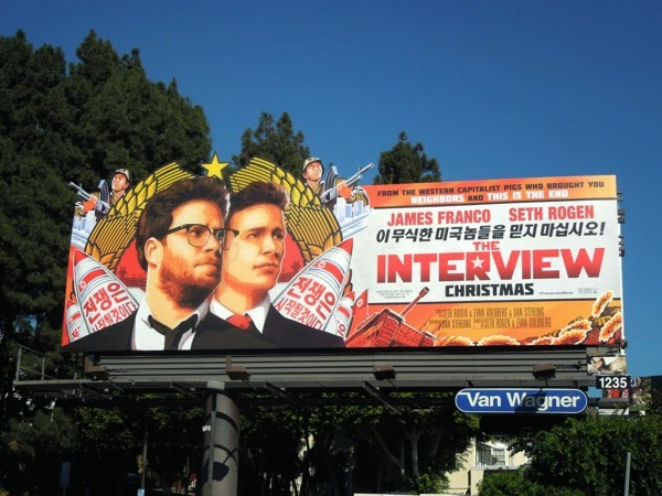 The Interview movie billboard