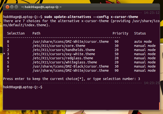 How to Change Mouse Cursor Theme on Ubuntu 11 10 Oneiric Ocelot