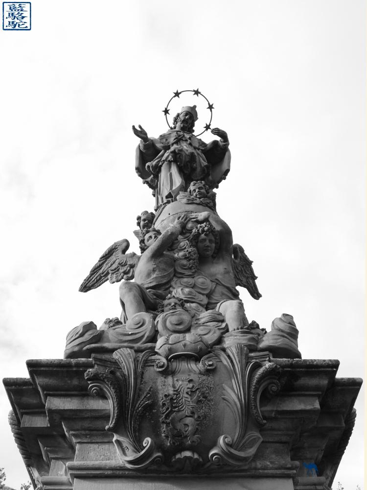 Le Chameau Bleu -Blog Voyage Heildeberg Allemagne -  Statue du vieux pont d'Heildeberg