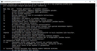 shutdown cmd parametreleri